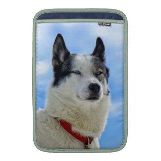 Siberian husky portrait sleeve for MacBook air