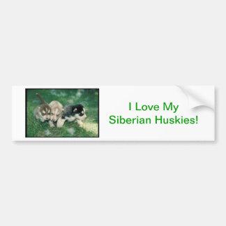 Siberian Husky Puppies Bumper Sticker