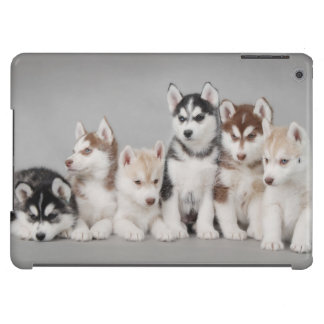 Siberian husky puppies cover for iPad air