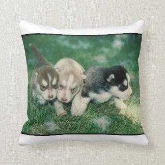 Siberian Husky Puppies MoJo Pillow