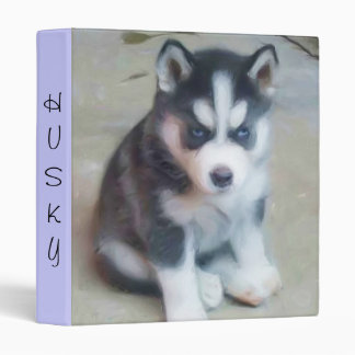 Siberian Husky puppy binder