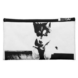 Siberian Husky Puppy Makeup Bag
