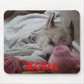 Siberian husky puppy mouse pad