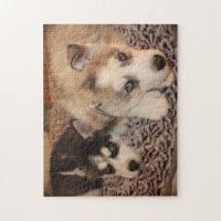 Siberian Husky Puppy Puzzle