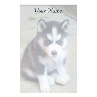 Siberian Husky puppy stationary Stationery Design