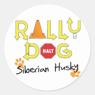 Siberian Husky Rally Dog Classic Round Sticker