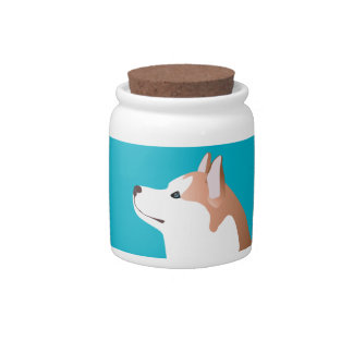 Siberian Husky - Red - Breed Template Design Candy Dish