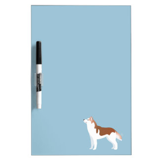 Siberian Husky - Red - Breed Template Design Dry Erase Whiteboards