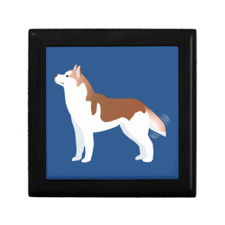 Siberian Husky - Red - Breed Template Design Gift Boxes