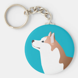 Siberian Husky - Red - Breed Template Design Key Chain