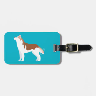 Siberian Husky - Red - Breed Template Design Tag For Bags