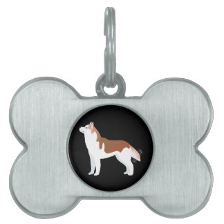 Siberian Husky - Red - Breed Template Design Pet Name Tag