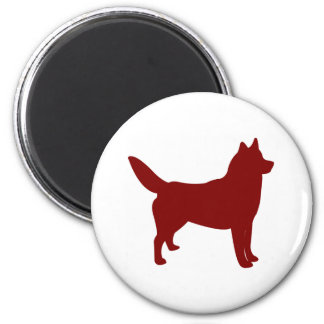 Siberian Husky (Red) Magnets