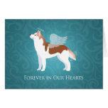 Siberian Husky - Red - Pet Memorial Design Greeting Card