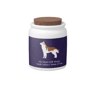 Siberian Husky - Red - Thinking of You Design Candy Dish