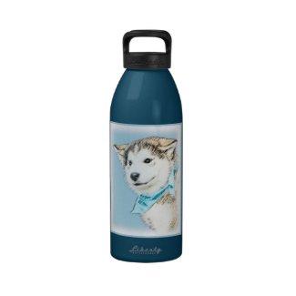 Siberian Husky Reusable Water Bottles