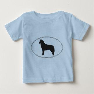 Siberian Husky Silhouette Baby T-Shirt