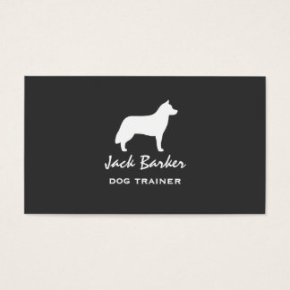 Siberian Husky Silhouette Business Card
