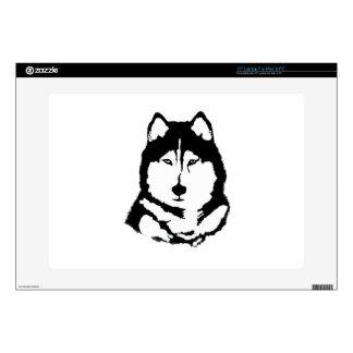 "Siberian Husky 15"" Laptop Skins"