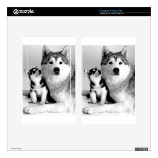 Siberian Husky Skin For Kindle Fire