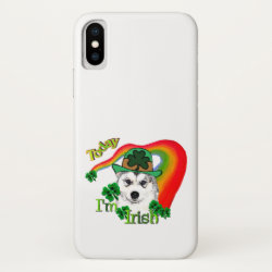 Case-Mate Barely There iPhone X Case with Siberian Husky Phone Cases design