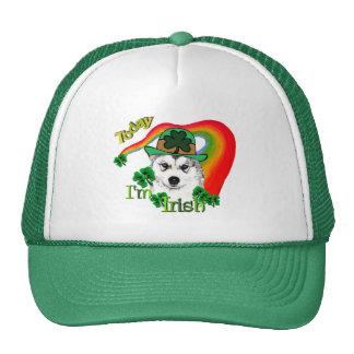 Siberian Husky St Patrick's Trucker Hat