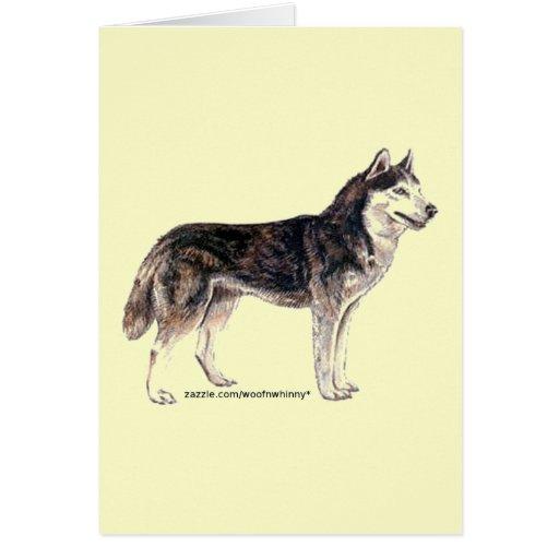 Siberian Husky! Stationery Note Card