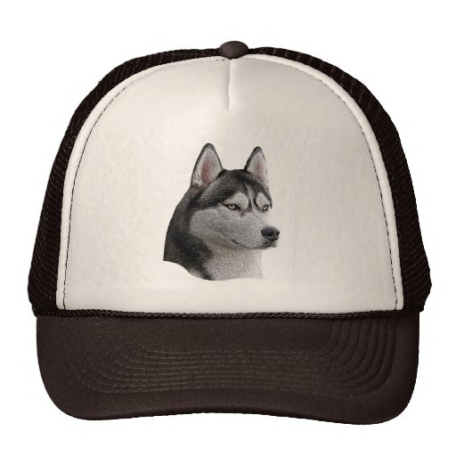Siberian Husky - Stylized Image - Add Your Text Hat