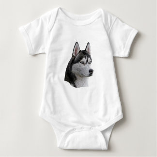 Siberian Husky - Stylized Image - Add Your Text Infant Creeper