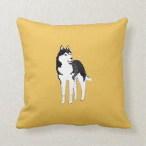Siberian Husky throw pillows or cushions