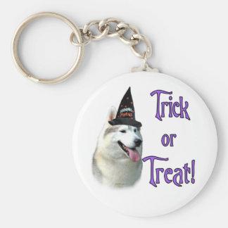 Siberian Husky Trick Keychain