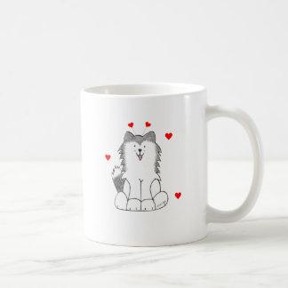 Siberian Husky Valentine Ears Coffee Mug