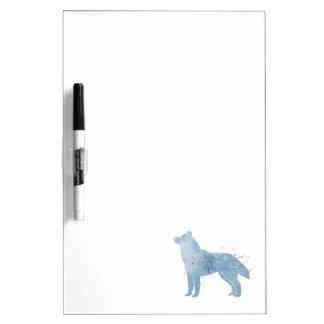 Siberian Husky Watercolor Design Dry-Erase Board