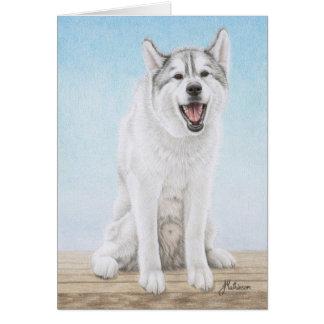 Siberian Husky Woo Wooing Card