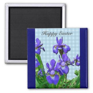 Siberian Iris Happy Easter Coordinated Items Refrigerator Magnet