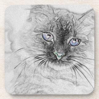 Siberian Kitty Cat - Cork Coasters