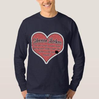 Siberian Laika Paw Prints Dog Humor Shirt