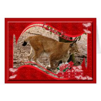 siberian-lynx-00399 tarjeta de felicitación