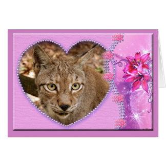 siberian-lynx-00413 tarjeta de felicitación