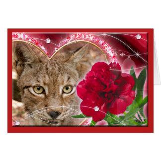 siberian-lynx-00438 tarjeta de felicitación