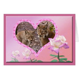 siberian-lynx-00448 tarjeta de felicitación