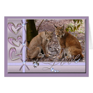 siberian-lynx-00478 tarjeta de felicitación