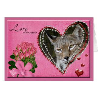 siberian-lynx-00498 tarjeta de felicitación