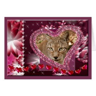 siberian-lynx-00502 tarjeta de felicitación