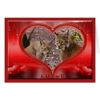 siberian-lynx-00508 tarjeta de felicitación