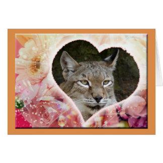 siberian-lynx-00523 tarjeta de felicitación