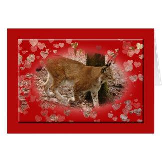 siberian-lynx-00526 tarjeta de felicitación