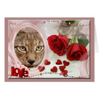 siberian-lynx-00528 tarjeta de felicitación
