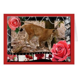 siberian-lynx-00529 tarjeta de felicitación