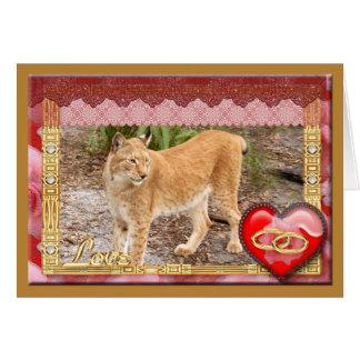 siberian-lynx-00532 tarjeta de felicitación